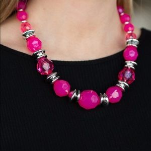 "New! Paparazzi ""Dine and Dash"" Pink Necklace"